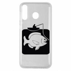 Чехол для Samsung M30 Рыба на крючке