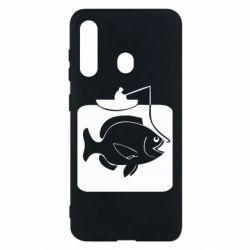Чехол для Samsung M40 Рыба на крючке