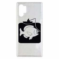 Чехол для Samsung Note 10 Plus Рыба на крючке