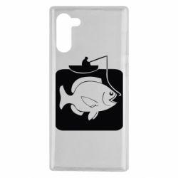 Чехол для Samsung Note 10 Рыба на крючке