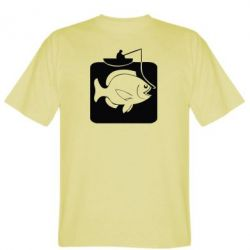 Мужская футболка Рыба на крючке - FatLine