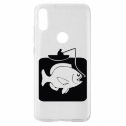 Чехол для Xiaomi Mi Play Рыба на крючке