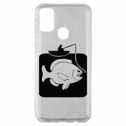 Чехол для Samsung M30s Рыба на крючке