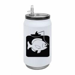 Термобанка 350ml Рыба на крючке