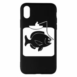 Чохол для iPhone X/Xs Риба на гачку