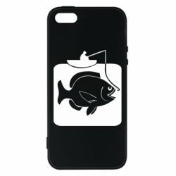 Чехол для iPhone5/5S/SE Рыба на крючке