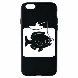 Чехол для iPhone 6/6S Рыба на крючке