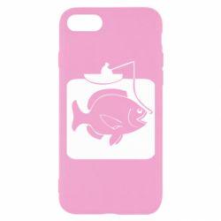 Чехол для iPhone 7 Рыба на крючке