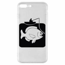 Чехол для iPhone 7 Plus Рыба на крючке