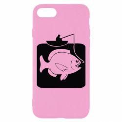 Чехол для iPhone 8 Рыба на крючке