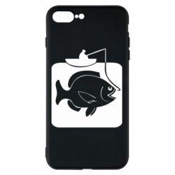 Чехол для iPhone 8 Plus Рыба на крючке