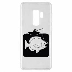 Чехол для Samsung S9+ Рыба на крючке