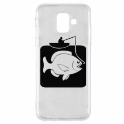 Чехол для Samsung A6 2018 Рыба на крючке