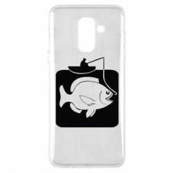 Чехол для Samsung A6+ 2018 Рыба на крючке