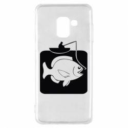 Чехол для Samsung A8 2018 Рыба на крючке