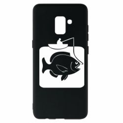 Чехол для Samsung A8+ 2018 Рыба на крючке