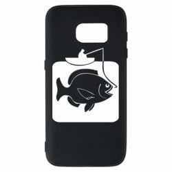 Чехол для Samsung S7 Рыба на крючке