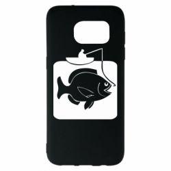 Чехол для Samsung S7 EDGE Рыба на крючке