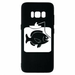 Чехол для Samsung S8 Рыба на крючке