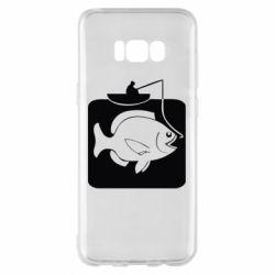 Чехол для Samsung S8+ Рыба на крючке