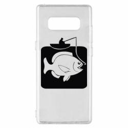 Чехол для Samsung Note 8 Рыба на крючке - FatLine