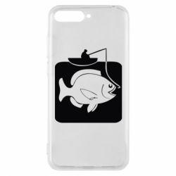 Чехол для Huawei Y6 2018 Рыба на крючке - FatLine