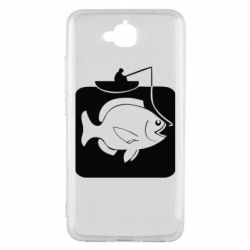 Чехол для Huawei Y6 Pro Рыба на крючке - FatLine