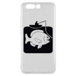Чехол для Huawei P10 Рыба на крючке - FatLine