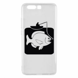 Чехол для Huawei P10 Plus Рыба на крючке - FatLine