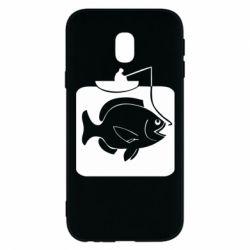 Чехол для Samsung J3 2017 Рыба на крючке