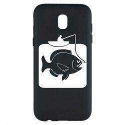 Чехол для Samsung J5 2017 Рыба на крючке