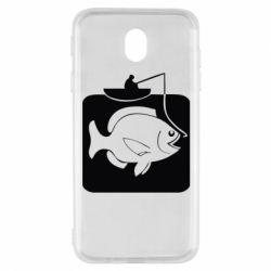 Чехол для Samsung J7 2017 Рыба на крючке