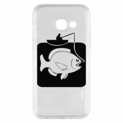Чехол для Samsung A3 2017 Рыба на крючке