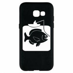 Чехол для Samsung A5 2017 Рыба на крючке