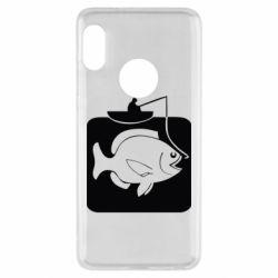 Чехол для Xiaomi Redmi Note 5 Рыба на крючке - FatLine