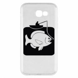 Чехол для Samsung A7 2017 Рыба на крючке