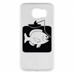 Чехол для Samsung S6 Рыба на крючке