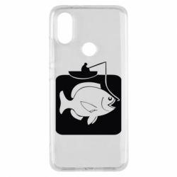 Чехол для Xiaomi Mi A2 Рыба на крючке