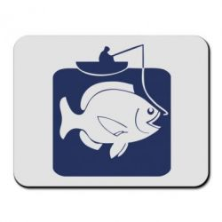 Коврик для мыши Рыба на крючке - FatLine