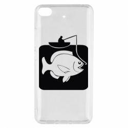 Чехол для Xiaomi Mi 5s Рыба на крючке - FatLine