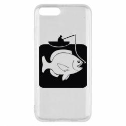 Чехол для Xiaomi Mi6 Рыба на крючке - FatLine