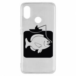 Чехол для Xiaomi Mi8 Рыба на крючке