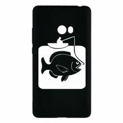 Чехол для Xiaomi Mi Note 2 Рыба на крючке - FatLine
