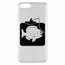 Чехол для Xiaomi Mi Note 3 Рыба на крючке - FatLine