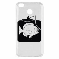 Чехол для Xiaomi Redmi 4x Рыба на крючке - FatLine