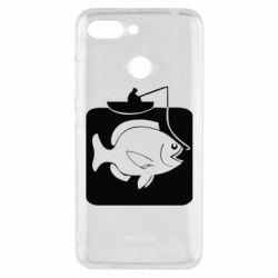 Чехол для Xiaomi Redmi 6 Рыба на крючке - FatLine