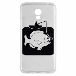 Чехол для Meizu M5c Рыба на крючке - FatLine