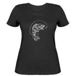 Женская футболка Рыба - FatLine
