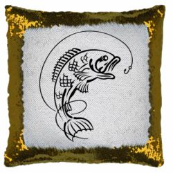 Подушка-хамелеон Риба