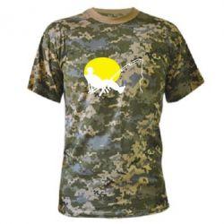 Камуфляжная футболка Рыбак - FatLine